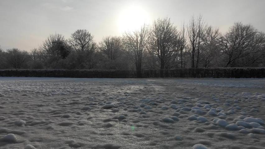 Drone Winter Snowy Sunrise Hills  | Shutterstock HD Video #1065615007