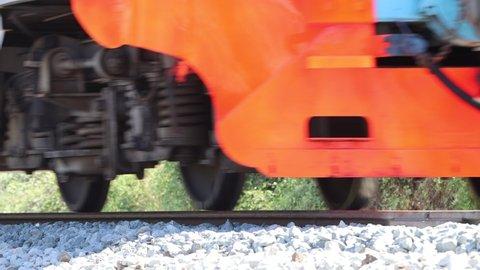 Train moving on railway tracks