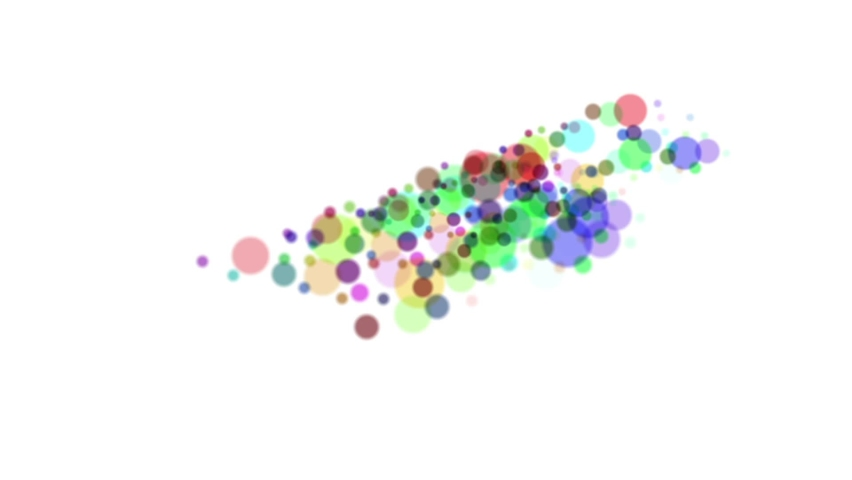 Numerous circles, bright colors, move continuously, look bright and beautiful. | Shutterstock HD Video #1065689668