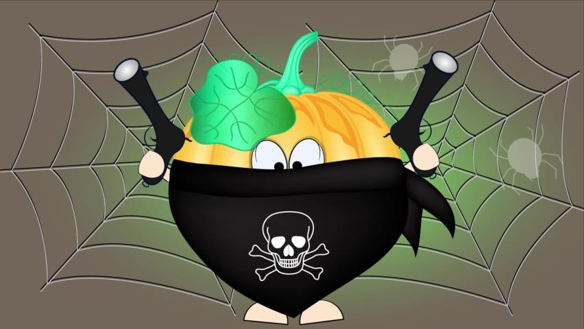 Animated greeting card. Happy halloween. Halloween pumpkin . | Shutterstock HD Video #1065703489