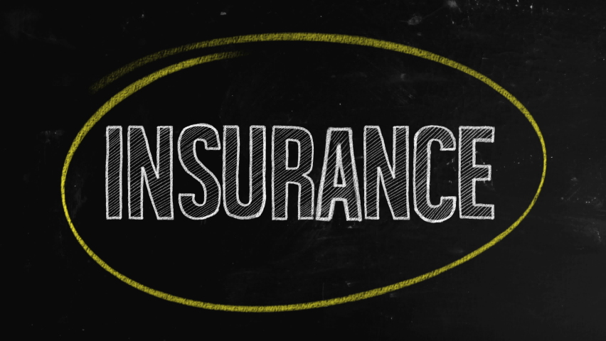 Insurance concept written on blackboard. Insurance is a means of protection from financial loss. It is a form of risk management, primarily used to hedge against the risk of a contingent or uncertain  | Shutterstock HD Video #1065704689