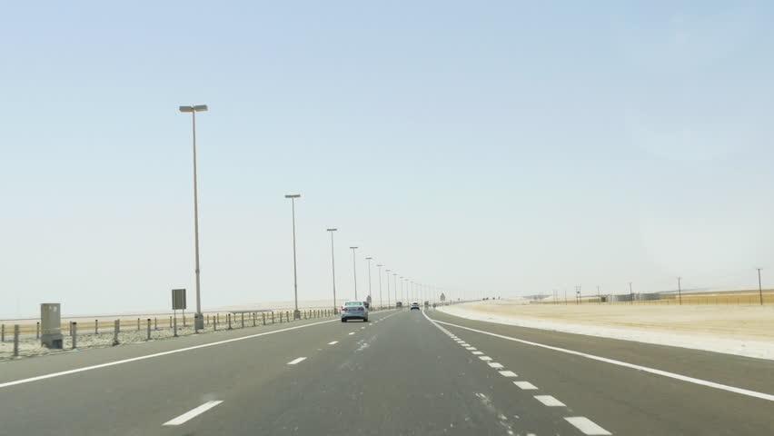United arab emirates day time desert road trip 4k uae | Shutterstock HD Video #10657070