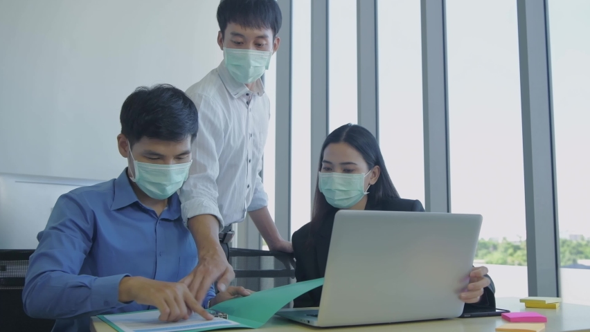 Business concept of 4k Resolution. A team of business people working together in the office. | Shutterstock HD Video #1065709729