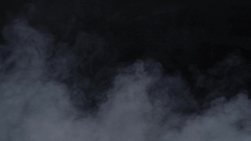 White steam, clouds, fog, vapor, ice, fire smoke texture over black background | Shutterstock HD Video #1065795160