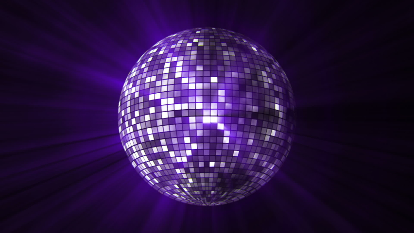Disco mirror ball spinning and reflects the light | Shutterstock HD Video #1065809359