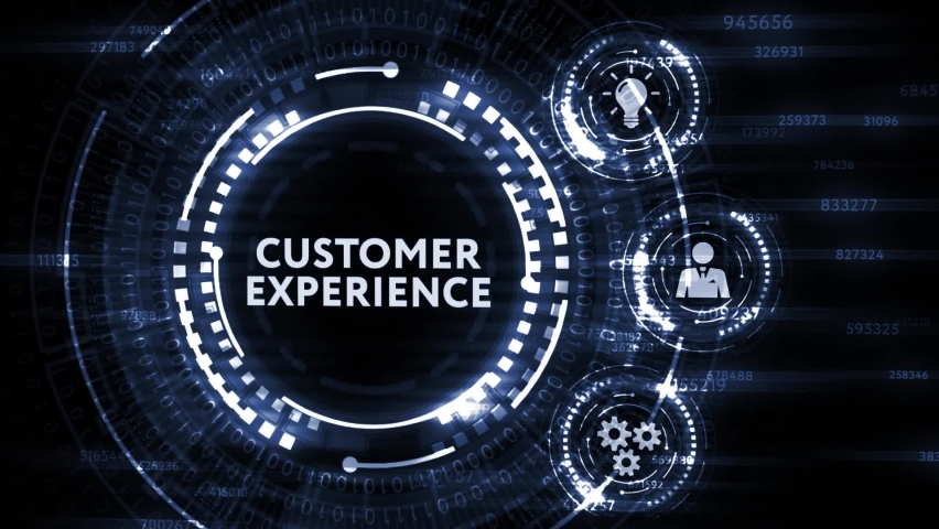 Internet, business, Technology and network concept. CUSTOMER EXPERIENCE inscription, social networking concept. | Shutterstock HD Video #1065891307