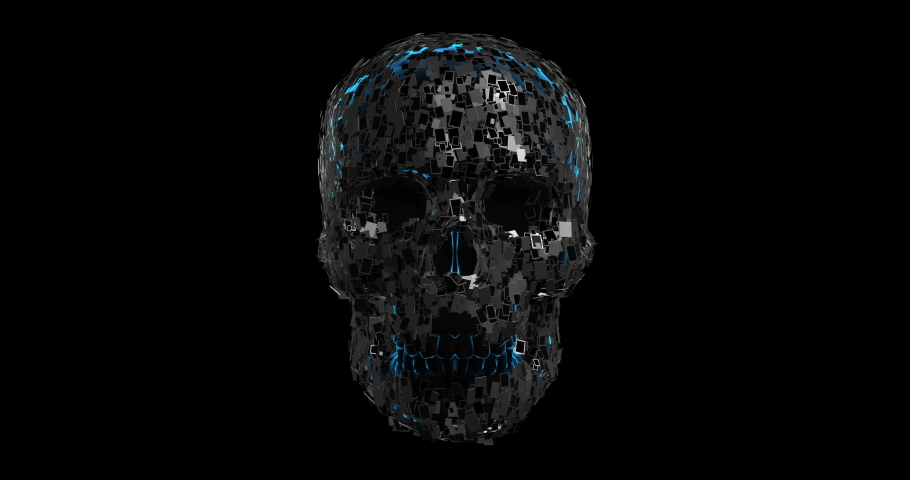 Internet Controlling Our Life. Smartphones And Tablets Forming Skull Shape. Internet Addiction And Technology Related 3D Animation. | Shutterstock HD Video #1065892405