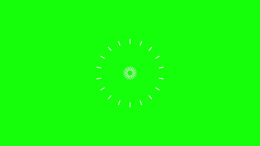 Set of 6 Explosive Accent Highlight Elements. 4k Animation Isolated on Green Screen (Chroma Key) Background | Shutterstock HD Video #1065897421