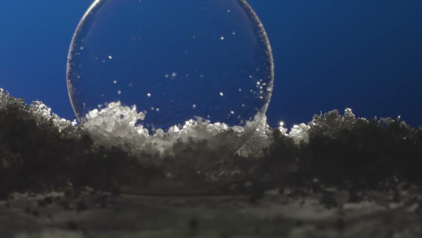 A white gas forming inside the bubble then it flops in Estonia   Shutterstock HD Video #1065898918