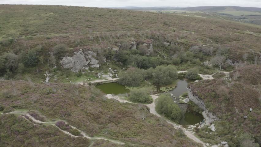 Haytor Quarry Dartmoor Devon England | Shutterstock HD Video #1065947905