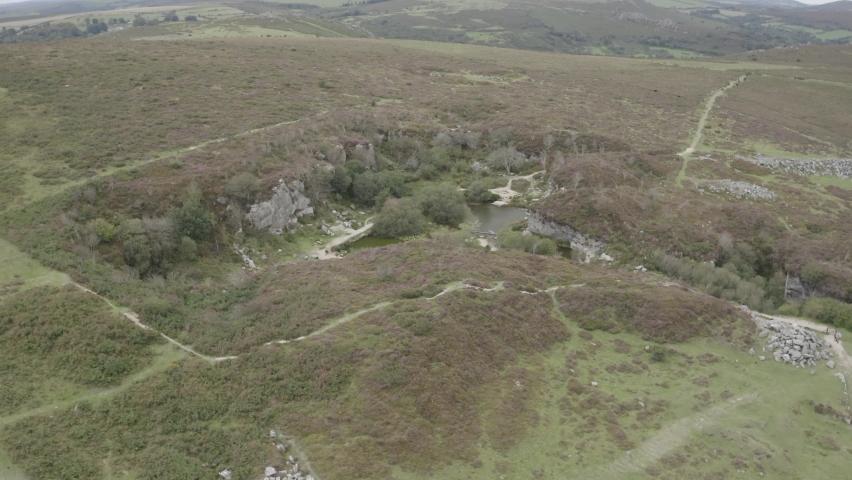 Haytor Quarry Dartmoor Devon England | Shutterstock HD Video #1065947908