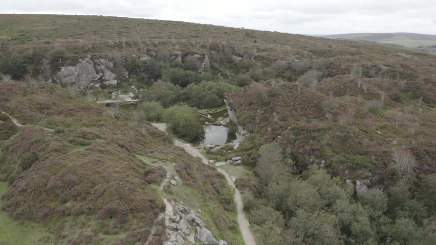 Haytor Quarry Dartmoor Devon England | Shutterstock HD Video #1065947914