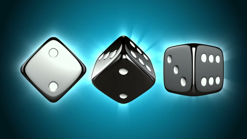 Casino game play dices white dot | Shutterstock HD Video #1065948376