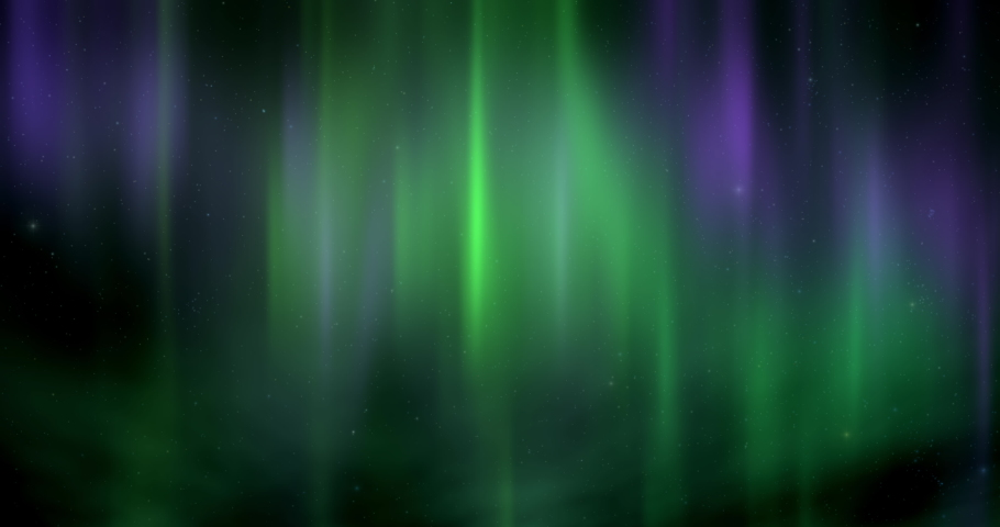 Aurora borealis with moving starry sky abstract moving background Royalty-Free Stock Footage #1065979633
