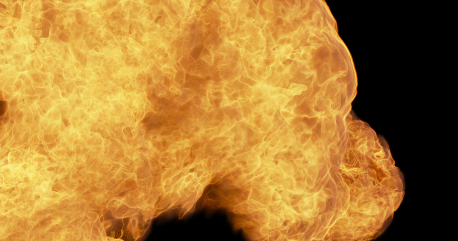 Close up of Fire Flames Transition, Alpha Channel 4K | Shutterstock HD Video #1065994681