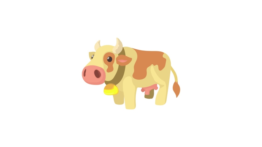 Cow icon animation best object on white background