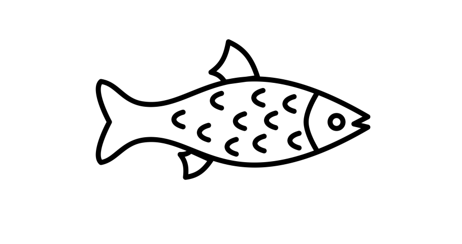 Fish icon animation. For website, banner, motion graphics, apps, and social media posts.  | Shutterstock HD Video #1066032430