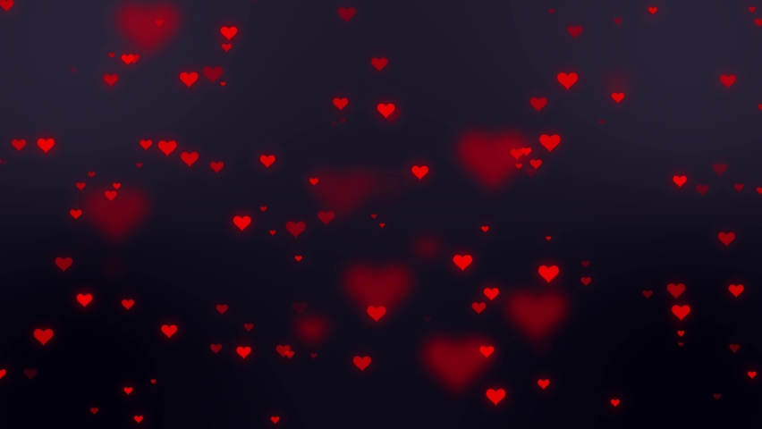 Red heart shapes falling on a dark background. Simple Happy Valentine's day animation | Shutterstock HD Video #1066032889