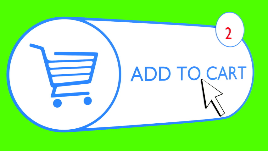Add to cart button in a 3D space with | Shutterstock HD Video #1066032985