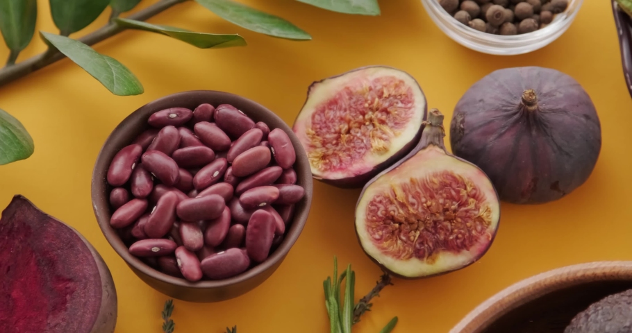 Figs and beans and beets | Shutterstock HD Video #1066033822
