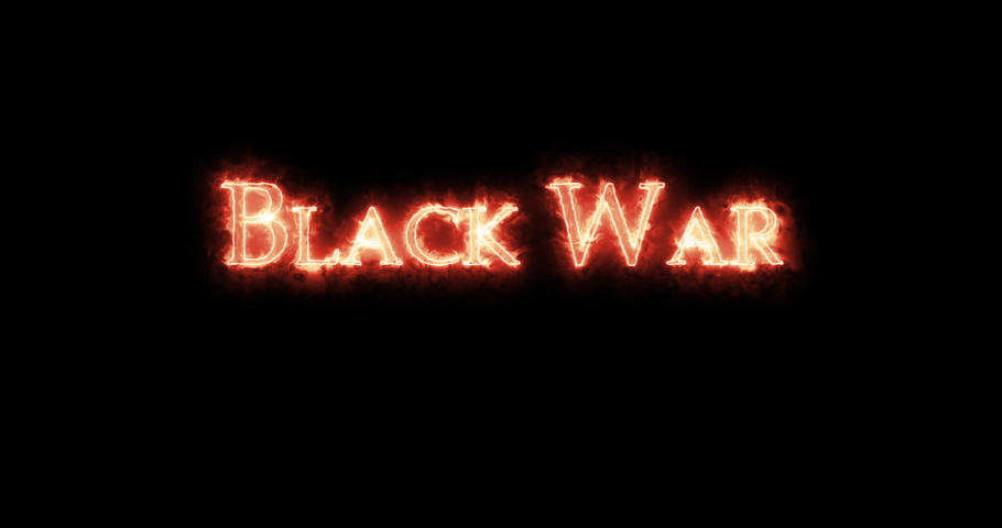 Black War written with fire. Loop | Shutterstock HD Video #1066033882