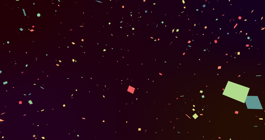 Multicoloured pieces of confetti falling seamlessly on a black background. celebration, colour, energy and movement concept, digitally generated video. | Shutterstock HD Video #1066052611