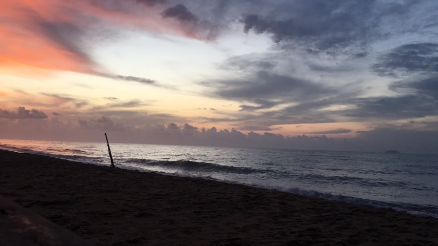 Sunset, light reflecting the sea in the evening in Hua Hin District, Thailand. | Shutterstock HD Video #1066052887