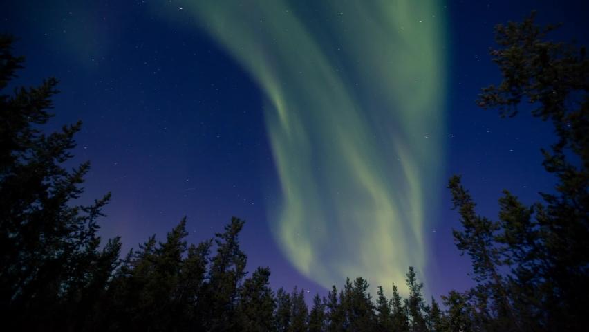 Aurora Borealis Appears at Night | Shutterstock HD Video #1066052971