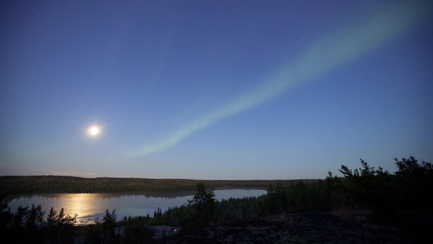 Aurora Borealis Appears at Night | Shutterstock HD Video #1066052995