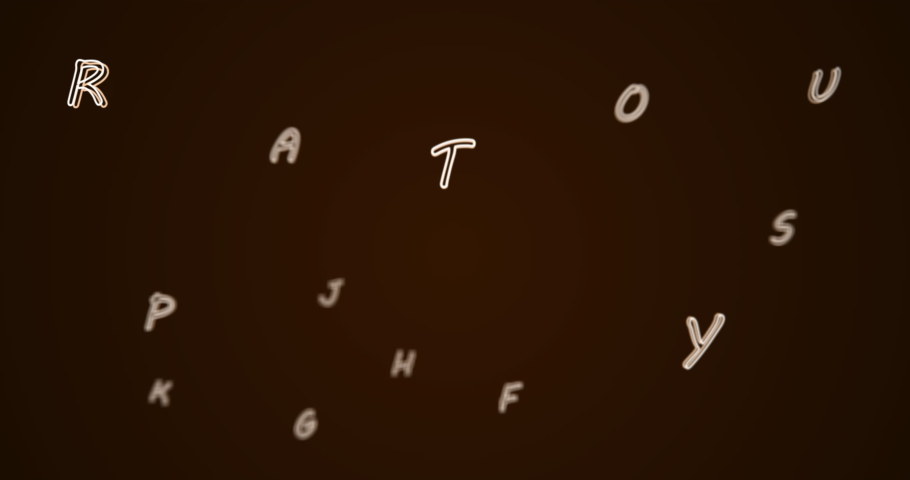 Digital animation of multiple alphabets floating and moving against black background. school and education concept | Shutterstock HD Video #1066053847