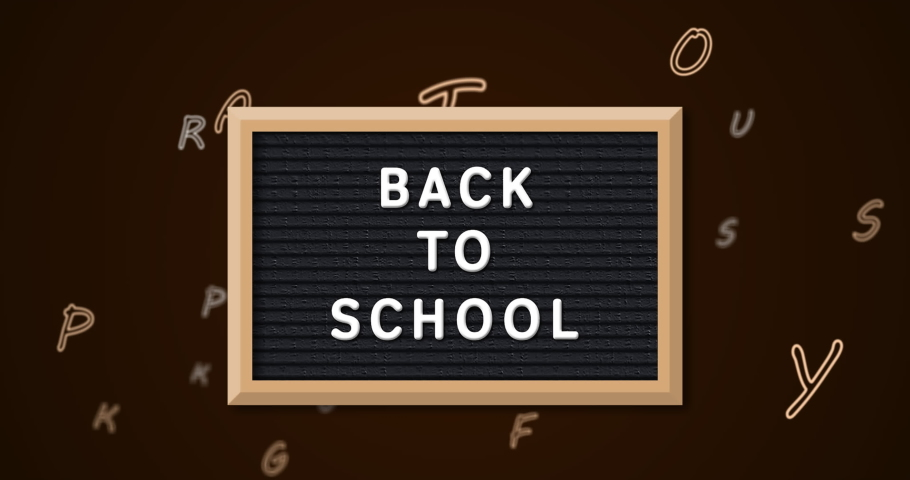 Back to school text on slate against multiple changing alphabets on black background. school and education concept | Shutterstock HD Video #1066054162