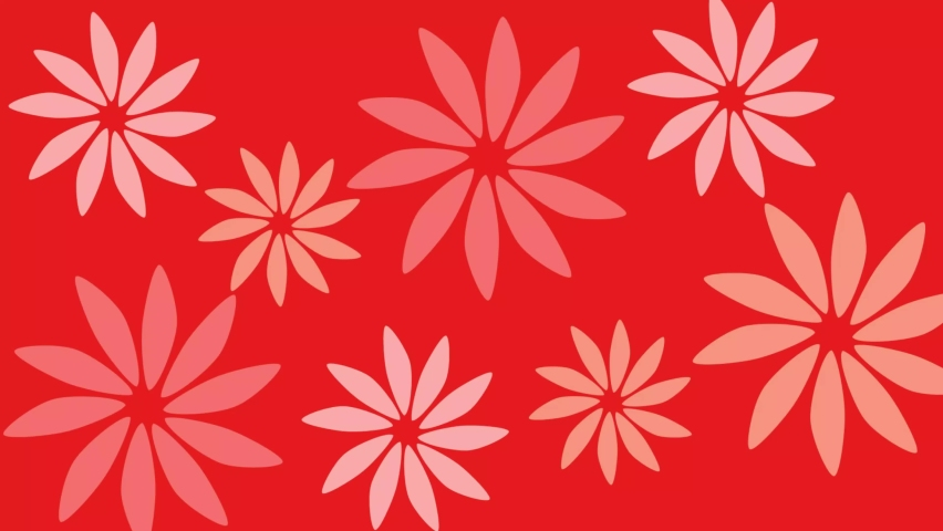 Abstract flower face loop, feminine exotic travel tropical theme. loop 4k vide. | Shutterstock HD Video #1066054222