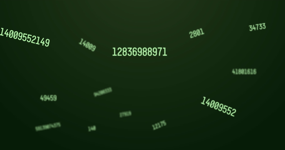 Digital animation of multiple changing numbers and symbols against green background. school and education concept | Shutterstock HD Video #1066054228
