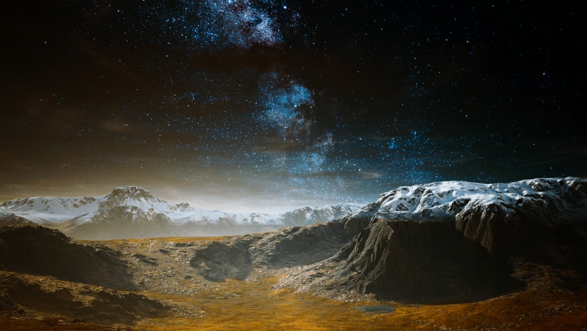 Himalaya mountain with star in night time | Shutterstock HD Video #1066054540