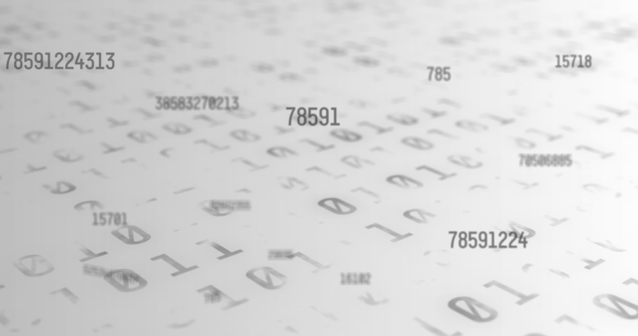 Digital animation of multiple changing numbers against binary coding data processing on white background. computer interface technology and online security concept. | Shutterstock HD Video #1066054636
