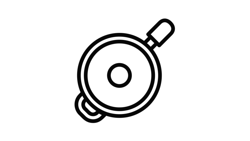 Saute fry pan icon animation best object on white background | Shutterstock HD Video #1066070374