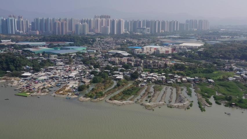 Yuen Long Lau Fau Shan in Hong Kong | Shutterstock HD Video #1066105099