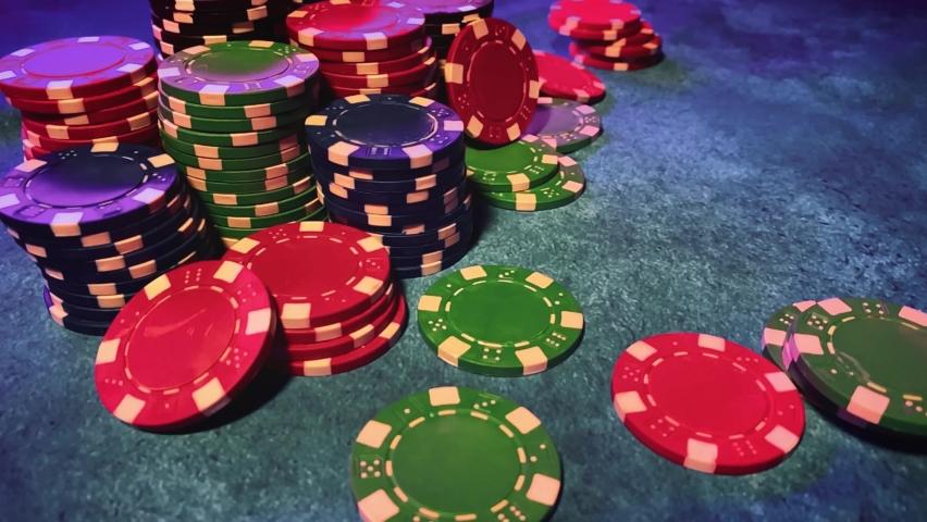 Casino. Poker. Game chips for betting in gambling. Poker chips. | Shutterstock HD Video #1066117186