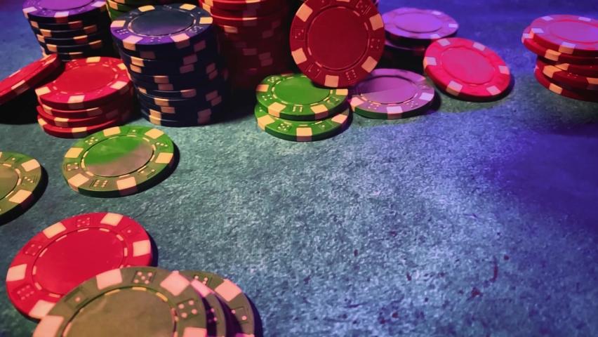 Casino. Poker. Game chips for betting in gambling. Poker chips. | Shutterstock HD Video #1066117189