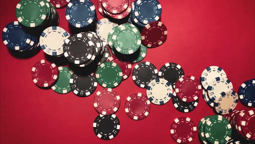 Casino. Poker. Game chips for betting in gambling. Poker chips. | Shutterstock HD Video #1066117195