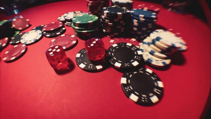 Casino. Poker. Game chips for betting in gambling. Poker chips. | Shutterstock HD Video #1066117204