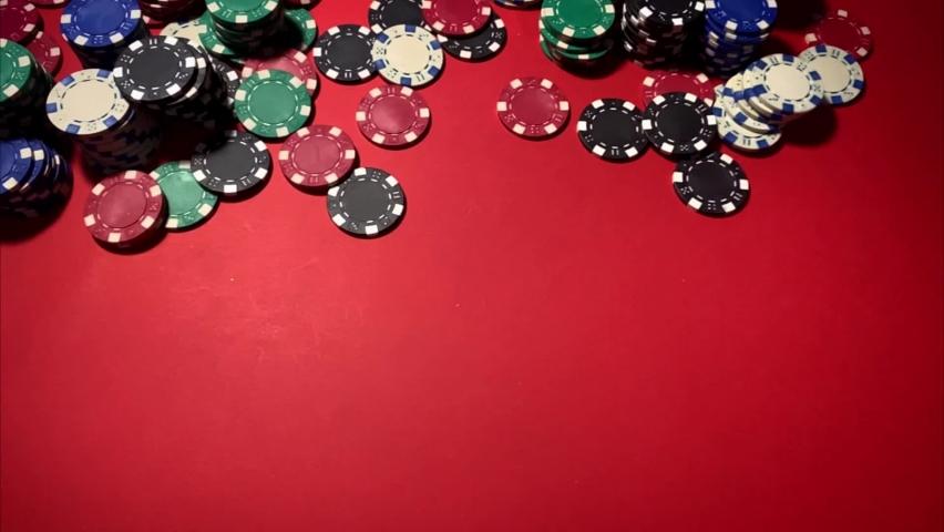 Casino. Poker. Game chips for betting in gambling. Poker chips. | Shutterstock HD Video #1066117207