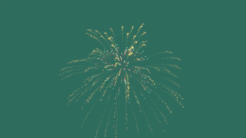 Festive fireworks on a green background. Luminous particles in motion. Chroma Key   Shutterstock HD Video #1066178485