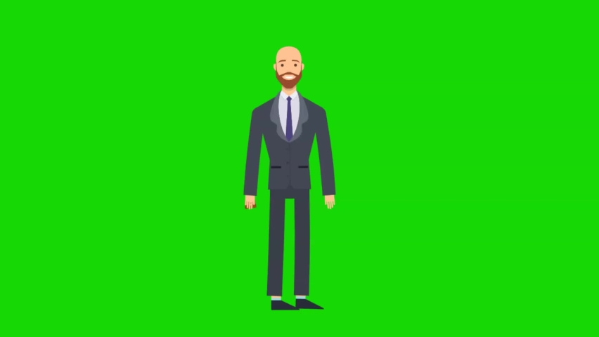 Businessman walking to go to the office. Green screen for video explainer.   Shutterstock HD Video #1066183033