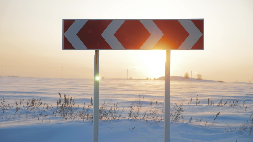 Right to left road sign, concept for business, difficult choice. | Shutterstock HD Video #1066187848
