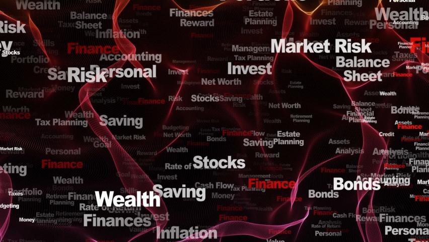 FINANCE Keywords Animation, Background, Loop, 4k  | Shutterstock HD Video #1066190842