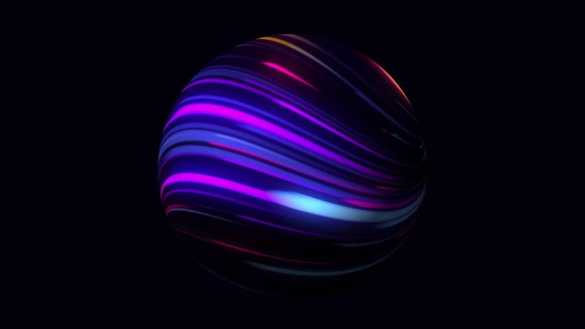Abstract 3d animation of a colorful vibrant sphere, motion design. Abstract technology, science, engineering and artificial intelligence wavy motion background. 4k seamless looped video.  | Shutterstock HD Video #1066192051