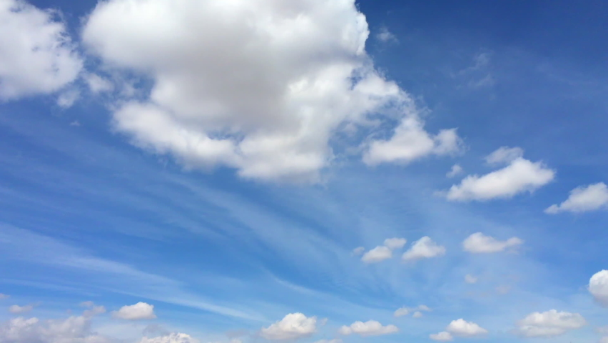 time lapse silky puffy cumulus cloud Royalty-Free Stock Footage #1066209259