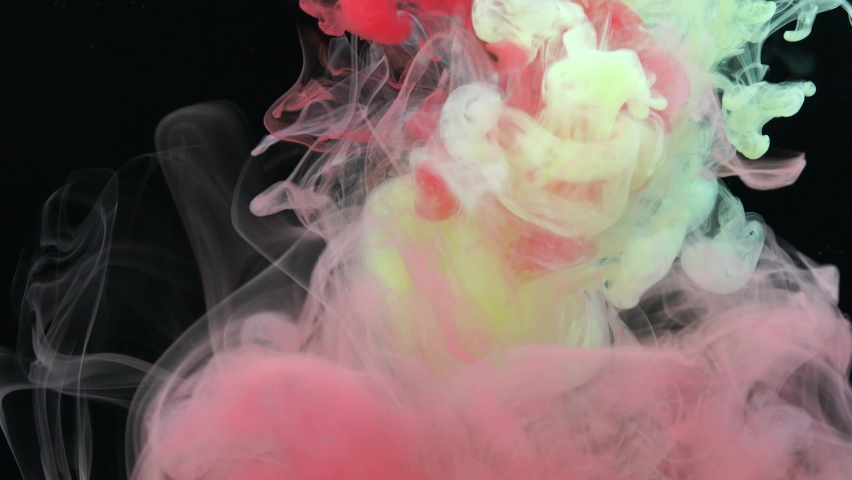 Beautiful ink paints with gorgeous colors. | Shutterstock HD Video #1066210027
