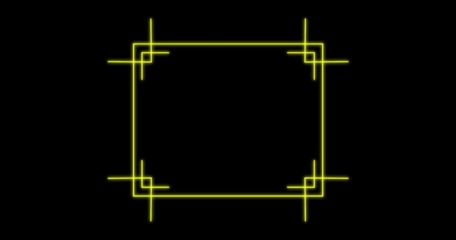 Glowing golden rectangular frame with alpha channel. 4K. Pear line 4K, 2K-2.5K, HD, SD video. For website, banner, motion graphics, apps, and social media posts.   | Shutterstock HD Video #1066246279